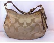 Coach Classic Hobo Gold/Brown Leather Shoulder Bag
