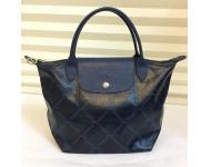 Longchamp LM Metal Platine Small/Short Handle(Navy)