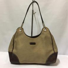 Gucci Brown Canvas/Leather Hobo Bag
